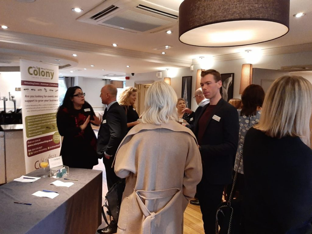Networking in full swing at business club launch event, Alderley Edge