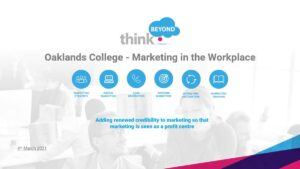 Oaklands College students learn about Marketing in the workplace